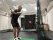 Golfer swings in lab