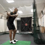 Golfer swings in lab