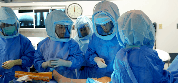 Orthopaedic surgeons in the operating room